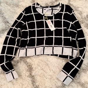 BCBGeneration Black and White Cropped Sweater